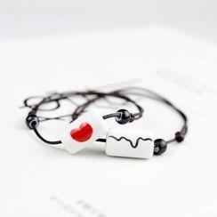 Cancion - Ceramic Bead Cord Bracelet