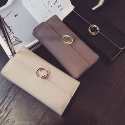 Clair Fashion - 绝美气质双C造型多格层长夹