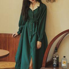Glaypio - 长袖衬衫中裙