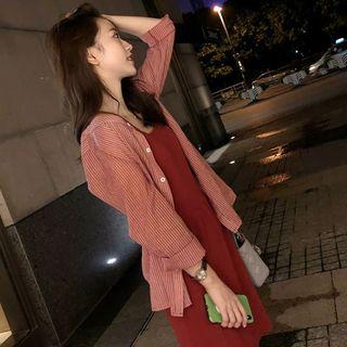 Robynn - Set: Mini Tank Dress + Striped Shirt