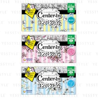 Unicharm - Center-In 1/2 Heavy Day Wing Feminine Pads 21.5cm 22 pcs - 3 Types