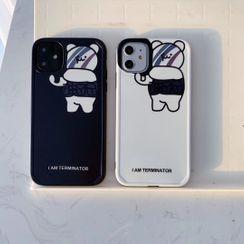 Vachie - Bear Print Mobile Case - iPhone 11 Pro Max / 11 Pro / 11 / XS Max / XS / XR / X / 8 / 8 Plus / 7 / 7 Plus / 6s / 6s Plus