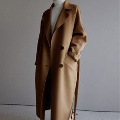 Lewwe - Double-Breasted Long Coat