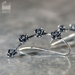 Zeno - Floral Sterling Silver Earring