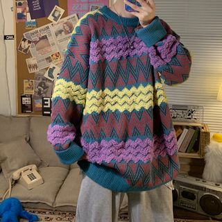 EOW - Zigzag Pattern Sweater