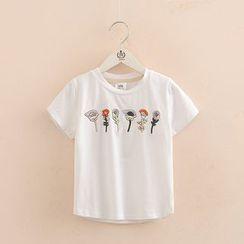 Seashells Kids - Kids Short-Sleeve Embroidered T-Shirt