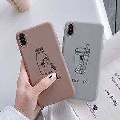 Wild Pony - Milk Tea Print Phone Case iPhone 6 / 6 Plus / 6s / 6s Plus / 7 / 7 Plus / 8 / 8 Plus / X / XS / XS Max / XR / 11 / 11 Pro / 11 Pro Max
