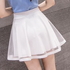 Fashion Street - High Waist A-Line Skirt
