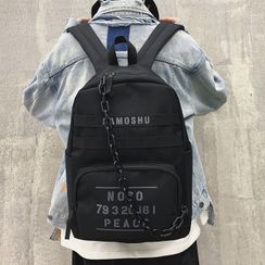 SUNMAN(サンマン) - Lettering Chain Strap Lightweight Backpack