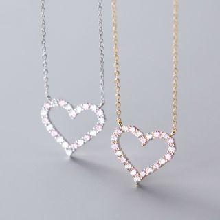 A'ROCH - Rhinestone Heart Necklace