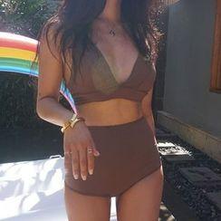 CUCURBIT(キューカービット) - Plain High-Waisted Bikini