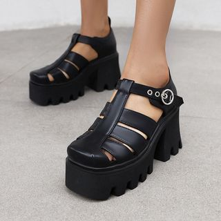Megan(ミーガン) - Platform Roman Sandals