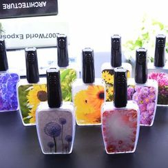 KAZZED - Floral Print Bottle-design Contact Lens Case