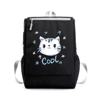 Lozynn - Cat Canvas Backpack