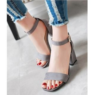 Freesia - Ankle Strap Block Heel Sandals