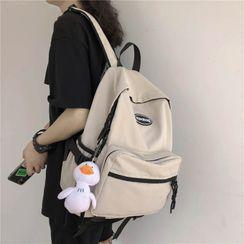 Crimson Tone - Pocket Detail Lightweight Backpack