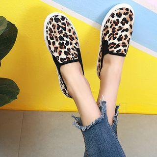 Sunsteps - 豹紋印花帆布輕便鞋