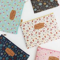 iswas - 'Paperian' Series Floral Print Pouch - (L)