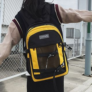 HOVERUP - Lettering Buckled Lightweight Backpack