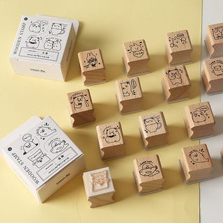 Monez - Wooden Stamp Set (various designs)
