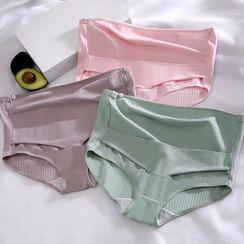 Xanthous - 孕婦高腰羅紋內褲