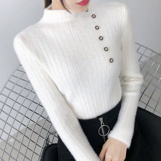 Norte - Mock Neck Knit Top
