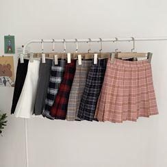 Miaow - Pleated Mini Skirt