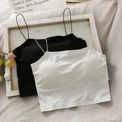 Lemongrass - 带胸垫修身短款吊带背心