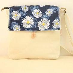 Comedear - Print Flap Mini Canvas Crossbody Bag