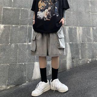Banash(バナッシュ) - Wide Leg Cargo Shorts