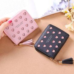 Bonnie Lonny - Faux Leather Heart Cutout Short Wallet