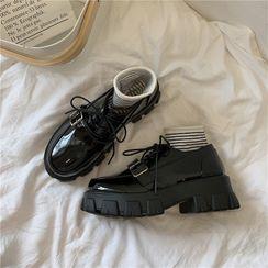 時尚麥樂 - 厚底繫帶鞋