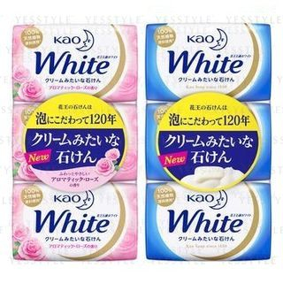 Kao - Bar Soap White 85g x 3 - 2 Types