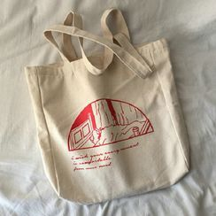 Woodword - Printed Canvas Tote Bag
