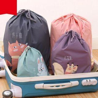 Homy Bazaar - Drawcord Print Travel Laundry Bag