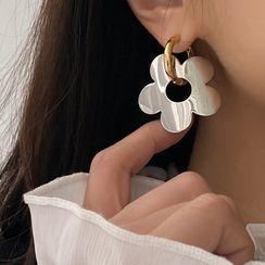 True Glam - 花朵圈環耳飾