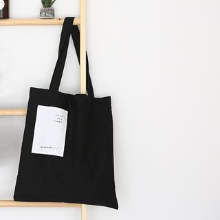 TangTangBags - Appliqued Canvas Tote Bag