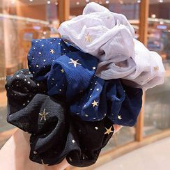 Sohma - Embroidered Star Scrunchie
