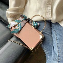 KOCORE - Faux Leather Box Crossbody Bag