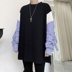 Bjorn - Striped Panel Sweatshirt