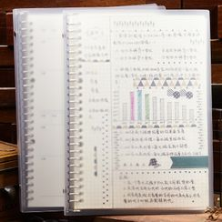 Show Home - A5 / B5 Transparent Loose Leaf Notebook