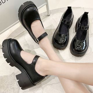 Yuki Yoru - Platform Chunky-Heel Mary Jane Pumps