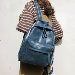 MUSA - Faux Leather Zip Backpack