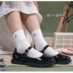 Cottonet - 水果提花襪子