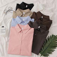 MIMITO - Long-Sleeve Dip-Back Shirt