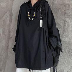 Giuliana - Side Pocket Plain Hooded Top