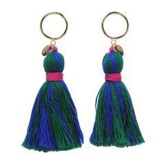 KATENKELLY - Tassel Drop Earrings (Blue)