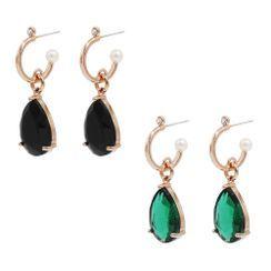 KATENKELLY - Teardrop Crystal Earrings
