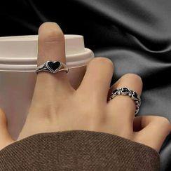 Malikasa - Heart Alloy Ring / Open Ring (various designs)