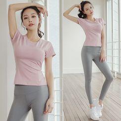 Girasol - Set: Short-Sleeve / Long-Sleeve Yoga T-Shirt + Pants